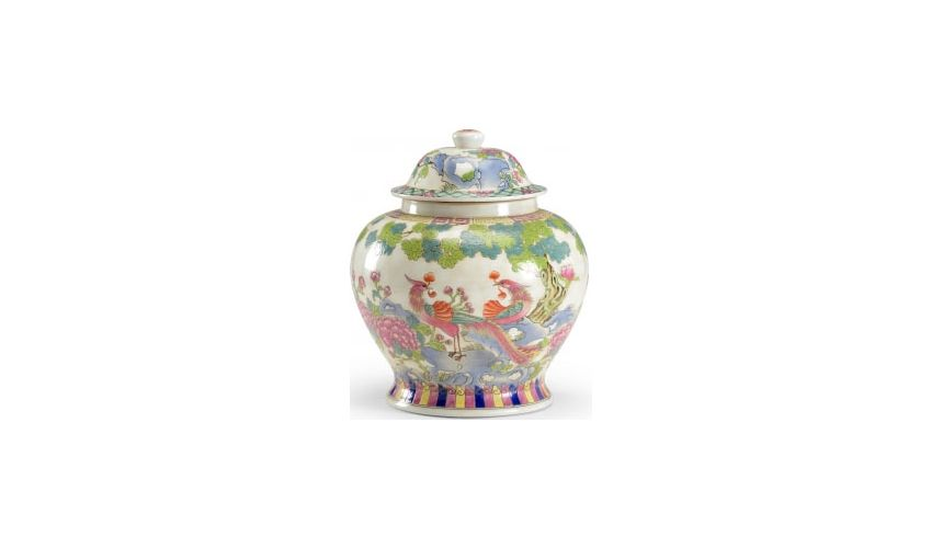 Decorative Accessories Multicolored Peacock Vase