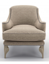 CHAIRS, Leather, Upholstered, Accent Beautiful Sparkling Sand Armchair