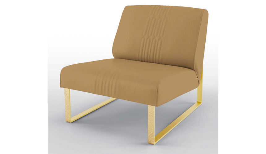 CHAIRS, Leather, Upholstered, Accent High End Biscottis at Brunch Armchair