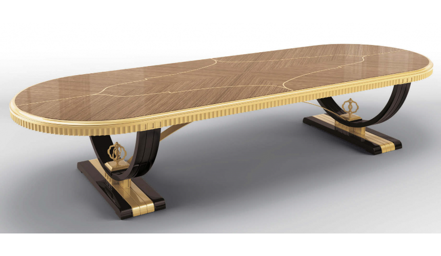 Dining Tables Luxurious Golden Autumn Dining Table