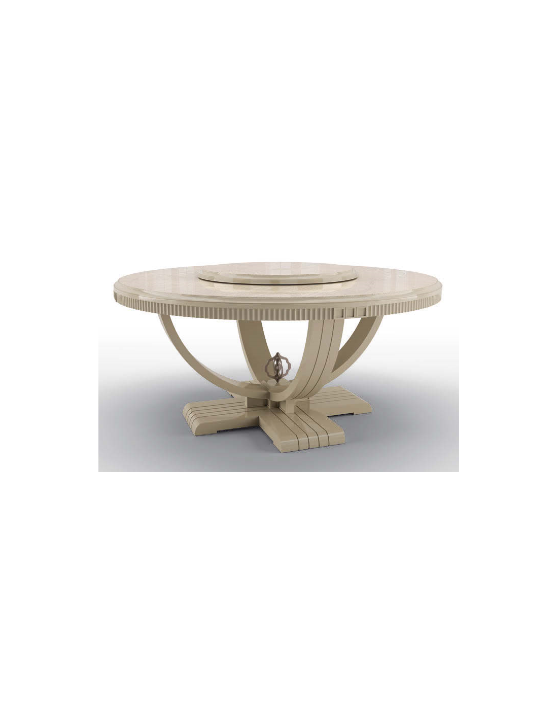 Picture of: Beautiful Candle White Round Dining Table