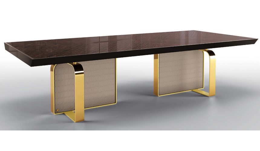 Dining Tables High End Coffee and Cream Rectangular Dining Table