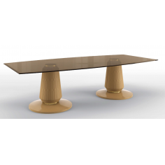 Beautiful Clarity in the Desert Rectangular Dining Table