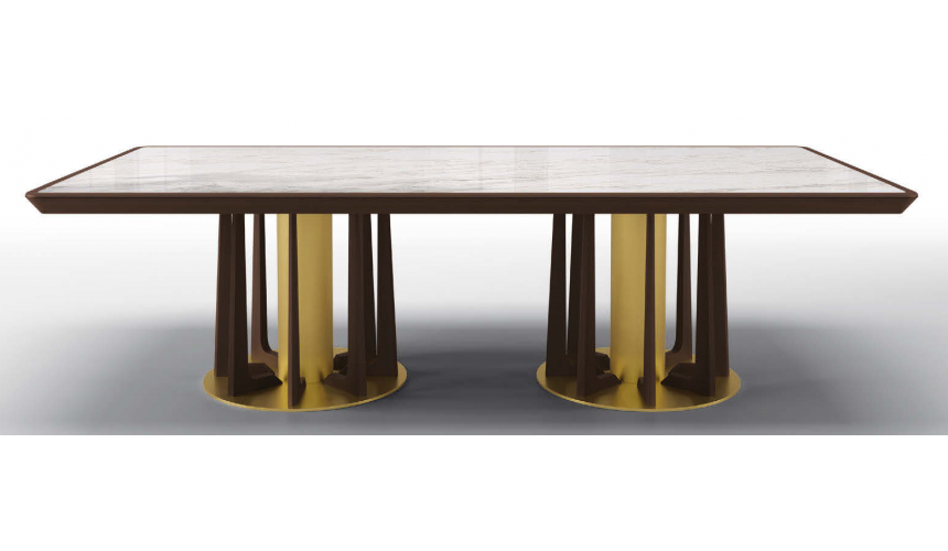 Dining Tables Deluxe Frosted Forrest Rectangular Dining Table