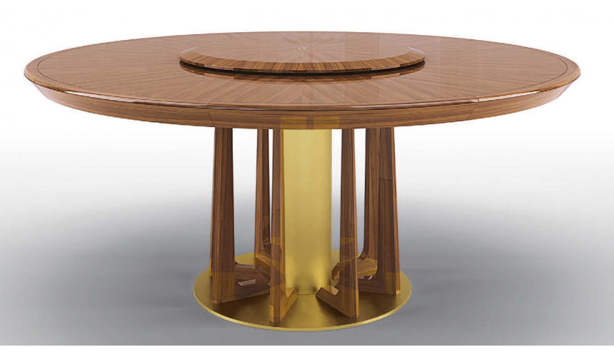 Dining Tables High End Bronzed Sun Beams Round Dining Table