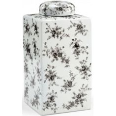 Cuboidal Black n White Jar