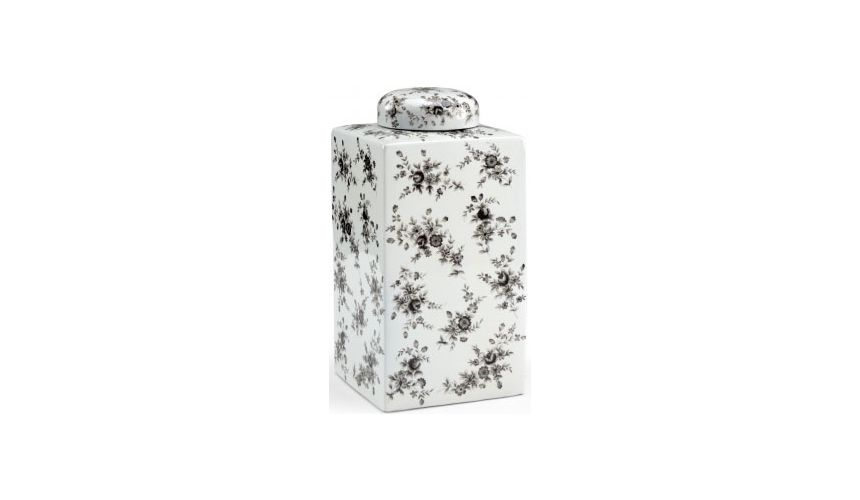 Decorative Accessories Cuboidal Black n White Jar