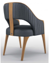 Dining Chairs Contemporary Temptress Blue Dining Armchair