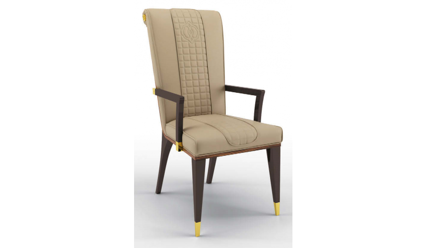 Dining Chairs High End Manchester Tan Dining Armchair