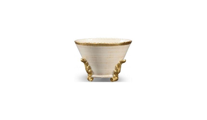 Decorative Accessories White Glazed Pot