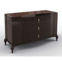 Deluxe Vanilla Bean and Carob Chest Of Drawers