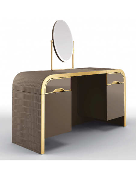 Dressing Vanities & Furnishings Beautiful Golden Saddlebury Dressing Table