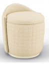 SETTEES, CHAISE, BENCHES Gorgeous Vanilla Bloom Pouf