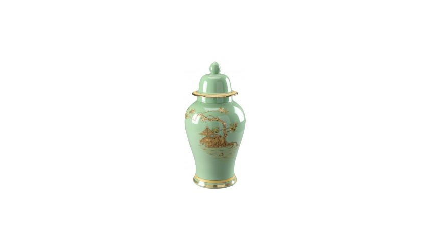 Decorative Accessories Teal Chinoiserie Vase