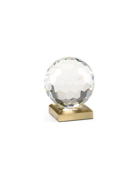 Decorative Accessories Hand Cut Crystal Ball Decorative Piece