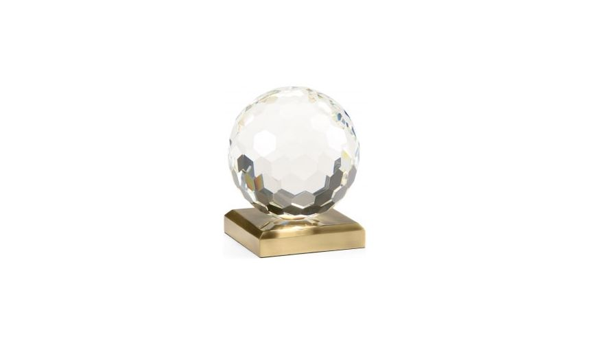 Decorative Accessories Chelsea Large Hand Cut Crystal Ball Accent