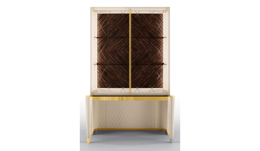 Display Cabinets and Armories High End Crossed Corners Display Cabinet