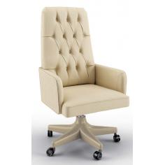 Stunning Mediterranean Ivory Office Chair