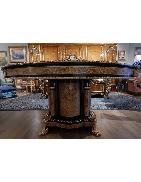 Dining Tables Luxury dining furniture. King Louis Collection Boulle marquetry work.