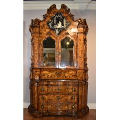 Venetian Secretary Desk With Cabinet.