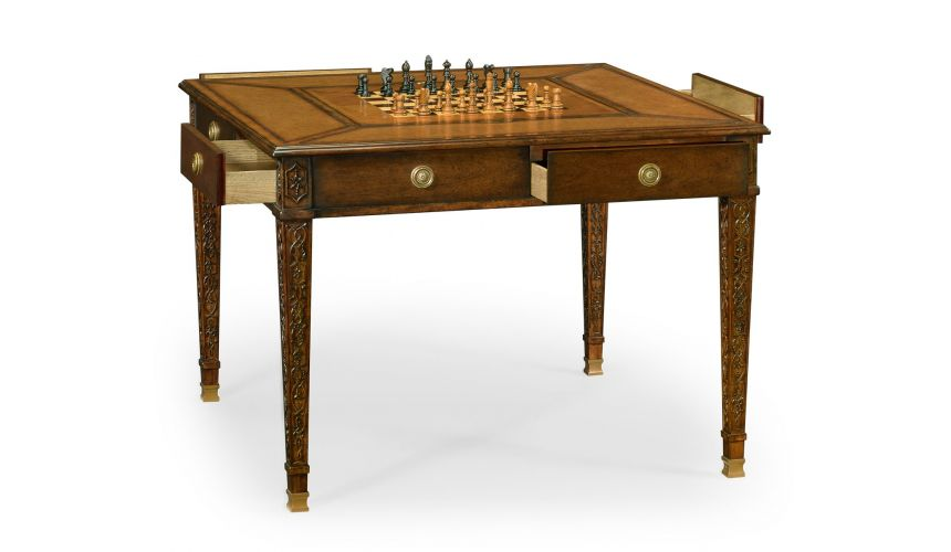 Decorative Accessories Luxurious Home Accents Leather Game Table