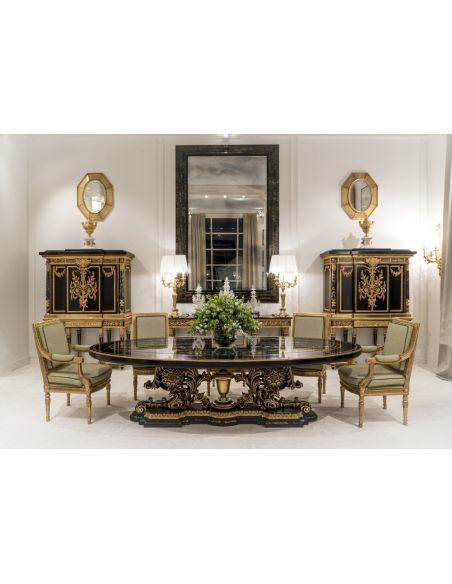 Dining Tables Luxurious Golden Space and Lightning Dining Table from our furniture showpiece collection.