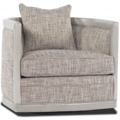Grey Tweed Swivel Chair