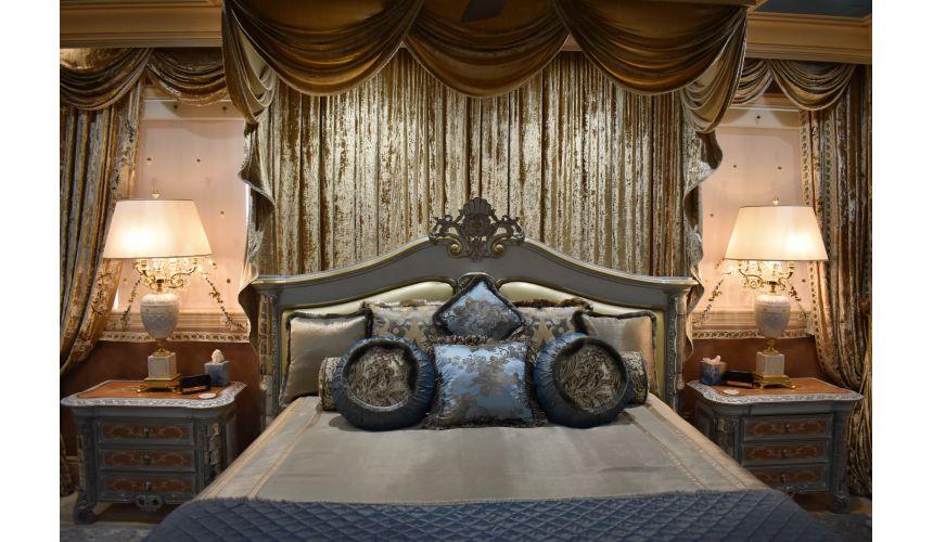 Furniture Masterpieces Venetian master bedroom set with Venetian etched mirror