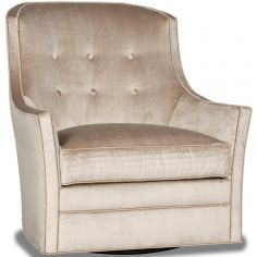 Gorgeous Champagne Pop Swivel Armchair