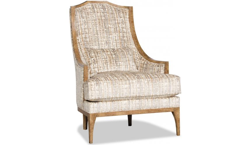 CHAIRS, Leather, Upholstered, Accent Stunning Shore Side Alabaster Accent Chair