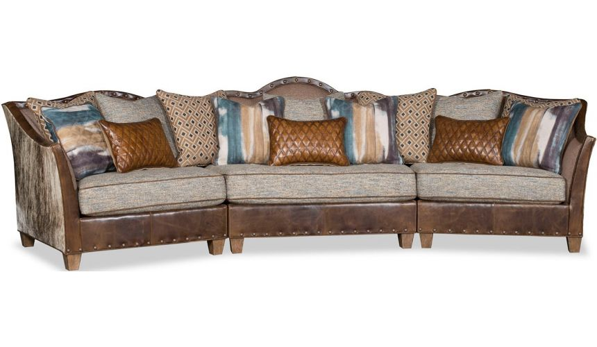 SECTIONALS - Leather & High End Upholstered Furniture High End Desert Skies Sofa