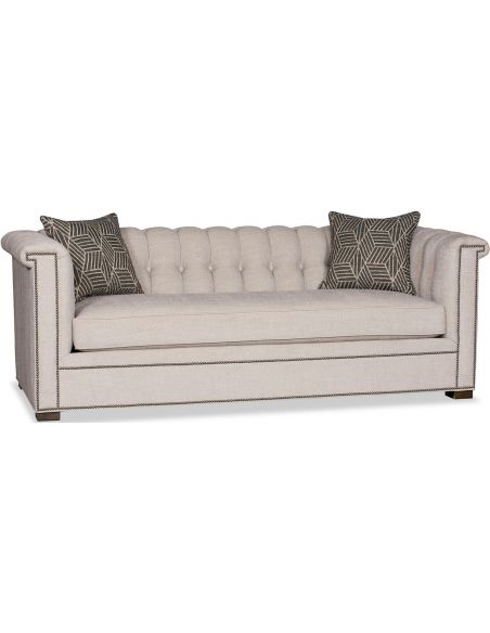 SOFA, COUCH & LOVESEAT Beautiful Parchment Calligraphy Sofa