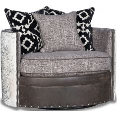 Beautiful Winter Wolf Swivel Armchair