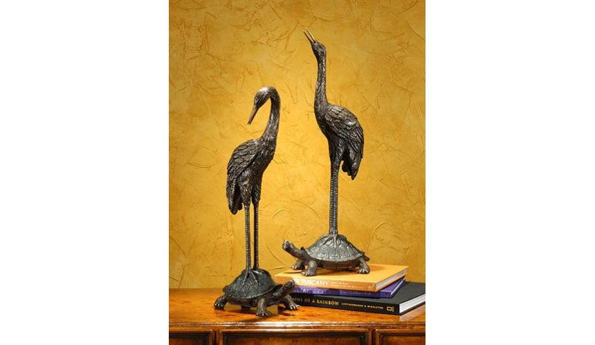 Decorative Accessories High Quality Furniture Pair Of Turtle Back Cranes