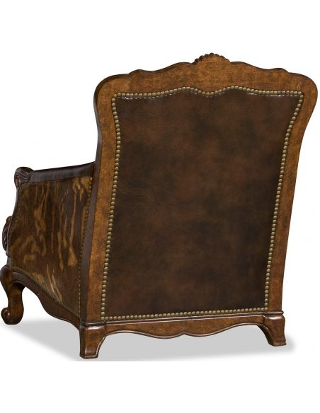 CHAIRS, Leather, Upholstered, Accent Deluxe Jungle Shadows Armchair
