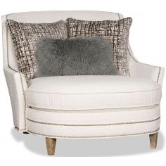 Breathtaking Sophisticated in White Accent Chair