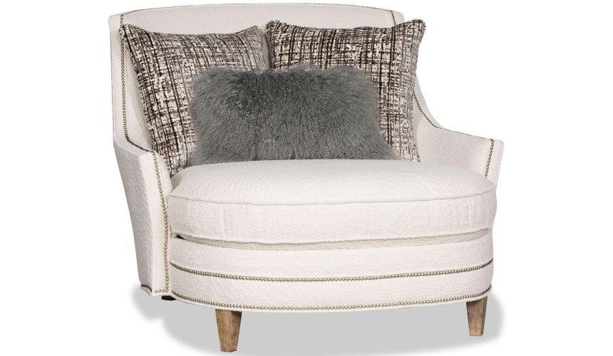 SETTEES, CHAISE, BENCHES Breathtaking Sophisticated in White Accent Chair