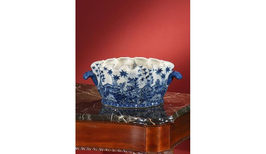 Decorative Accessories High Quality Furniture Porcelain Scalloped Planter