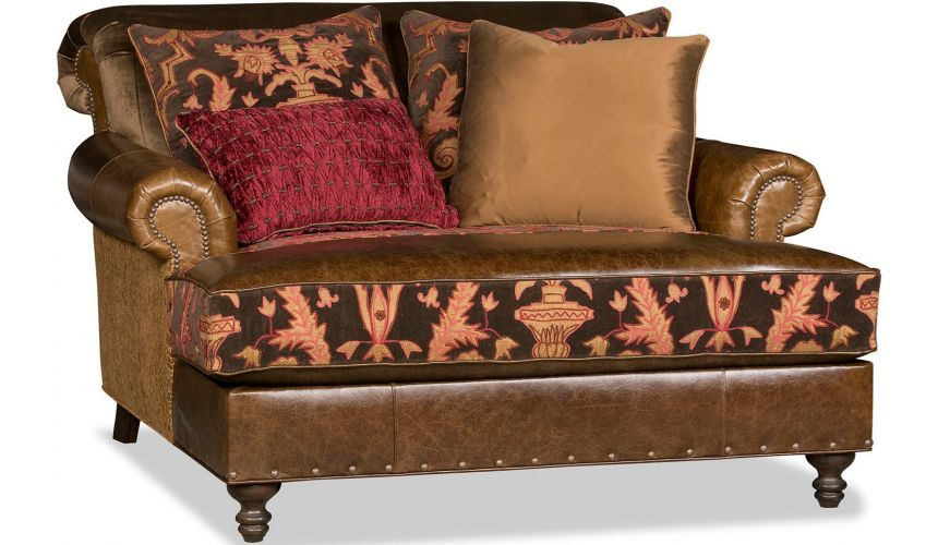 SETTEES, CHAISE, BENCHES Luxurious Burning Timber Accent Chair