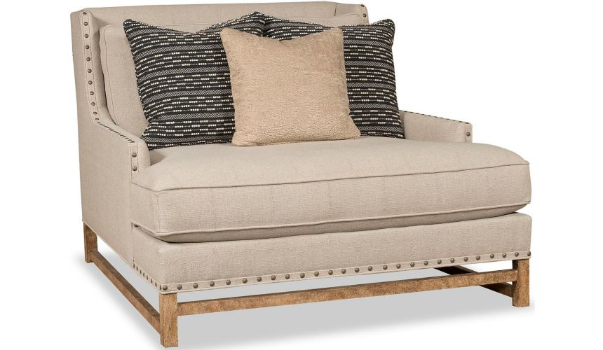 SETTEES, CHAISE, BENCHES Stunning Modest Beige Accent Chair