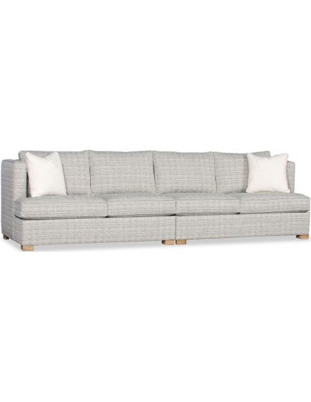SECTIONALS - Leather & High End Upholstered Furniture Deluxe Smoke Screen Sofa