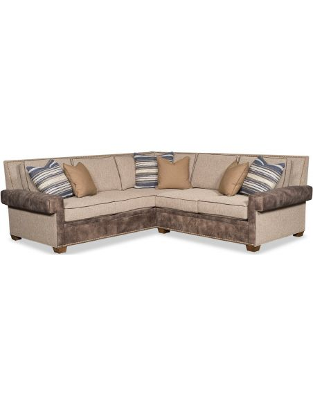 SECTIONALS - Leather & High End Upholstered Furniture Luxurious Summer Eclipse Sofa