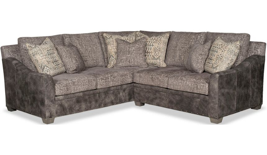 SECTIONALS - Leather & High End Upholstered Furniture High End Mountain Road at Midnight Sofa