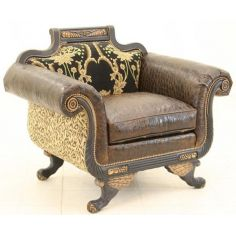 High End Jungle Darkness Accent Chair