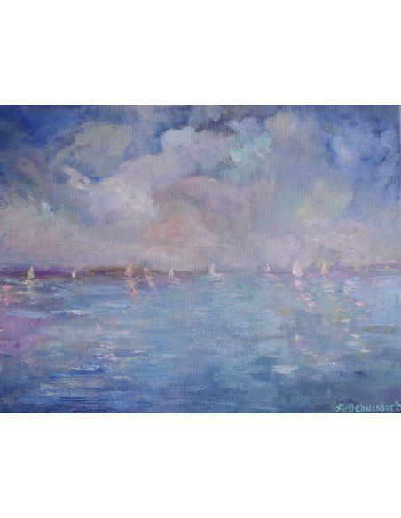 Original Oil Paintings By Artist: Anne-Marie Debuissert By The Sea Artist Anne-Marie Debuissert