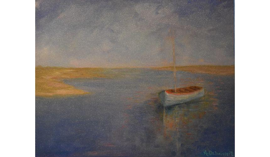 Original Oil Paintings By Artist: Anne-Marie Debuissert Quietude Artist Anne-Marie Debuissert
