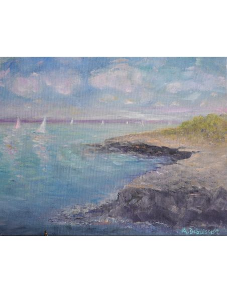 Original Oil Paintings By Artist: Anne-Marie Debuissert Seas The Day By Artist Anne-Marie Debuissert