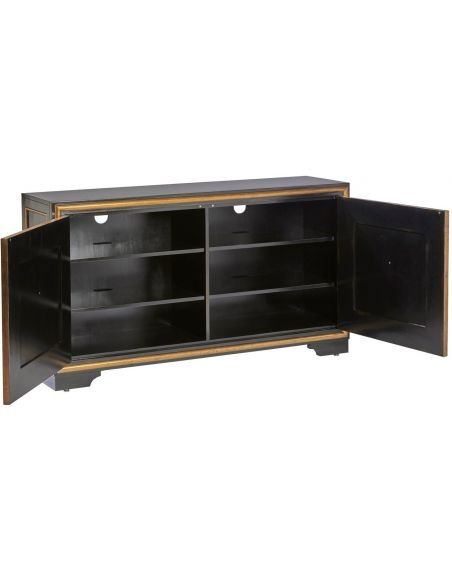 Breakfronts & China Cabinets Gorgeous Midnight Ride Credenza