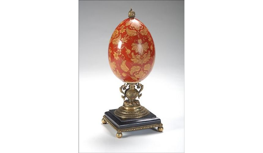 Decorative Accessories High Quality Furniture Hand Painted Damask Egg