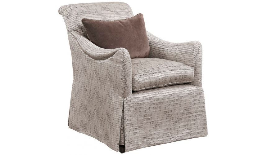 CHAIRS, Leather, Upholstered, Accent Beautiful Serpent's Scales Armchair